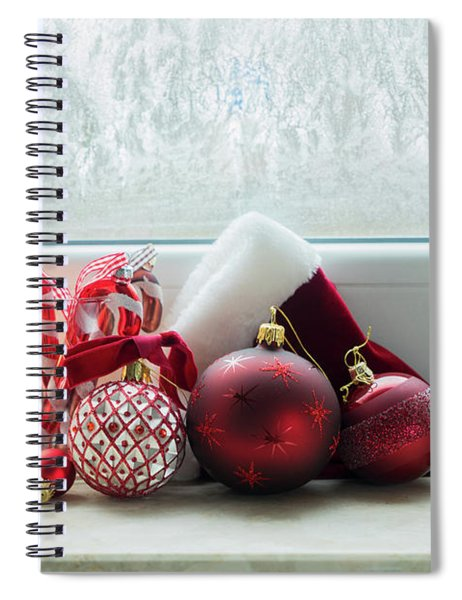 Christmas Windowsill Spiral Notebook