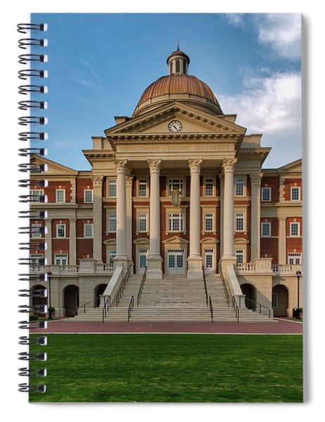 Christopher Newport Hall Spiral Notebook