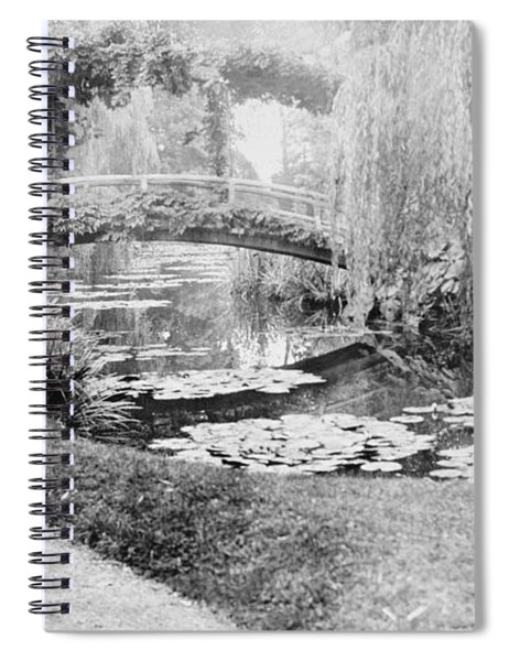 Claude Monet In His Garden At Giverny Spiral Notebook