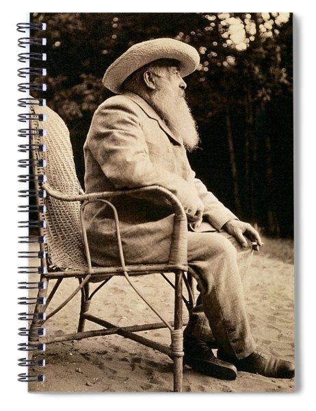 Claude Monet In His Garden Spiral Notebook