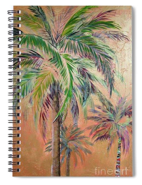 Copper Trio Of Palms Spiral Notebook