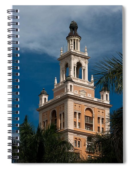 Spiral Notebook featuring the photograph Coral Gables Biltmore Hotel Tower by Ed Gleichman
