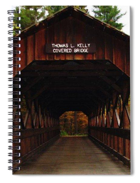 Covered Bridge At Allegany State Park Spiral Notebook