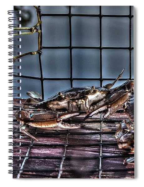 2 Crabs In Trap Spiral Notebook