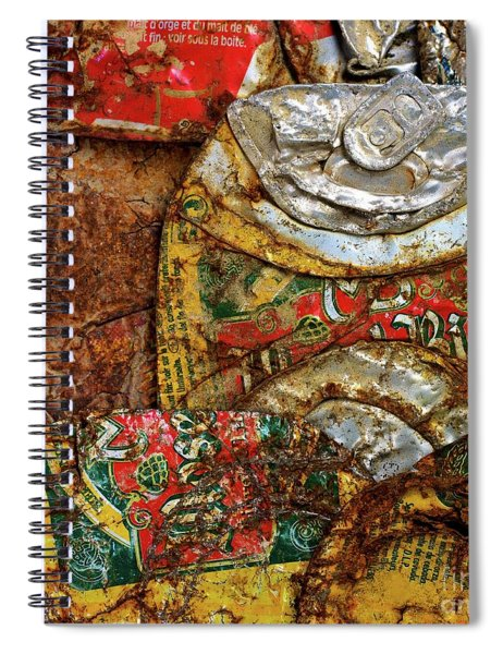 Crushed Beer Cans. Spiral Notebook