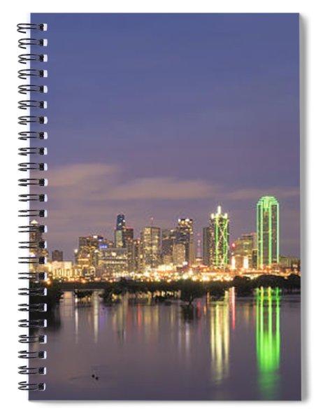 Dallas Skyline Twilight Spiral Notebook