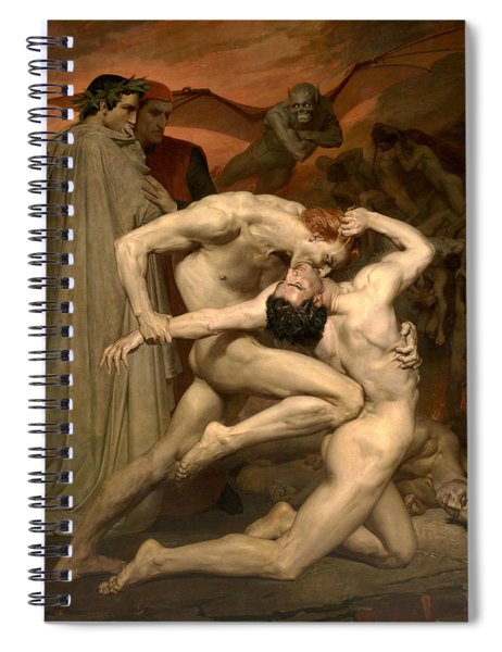 Dante And Virgil In Hell  Spiral Notebook