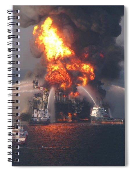 Deepwater Horizon Fire, April 21, 2010 Spiral Notebook