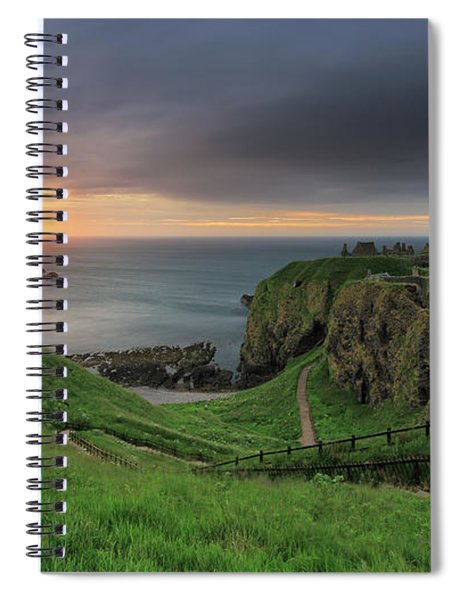 Dunnottar Castle At Sunrise Spiral Notebook