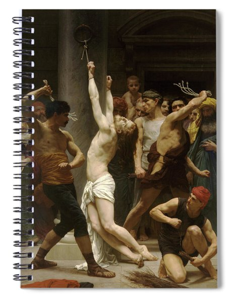 Flagellation Of Christ Spiral Notebook