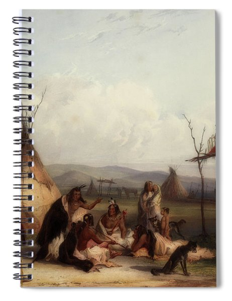 Funeral Scaffold Of A Sioux Chief Spiral Notebook