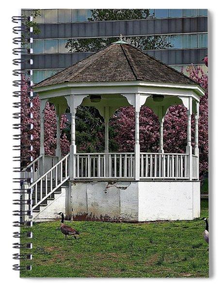 Gazebo In The Park Spiral Notebook