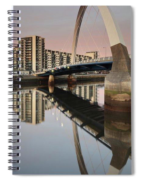 Glasgow Clyde Arc Bridge At Sunset Spiral Notebook