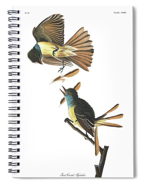 Great Crested Flycatcher Spiral Notebook