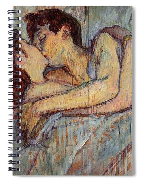 In Bed, The Kiss  Spiral Notebook