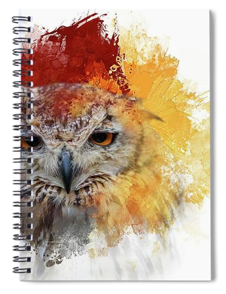 Indian Eagle-owl Spiral Notebook