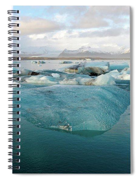 Jokulsarlon The Glacier Lagoon, Iceland 2 Spiral Notebook