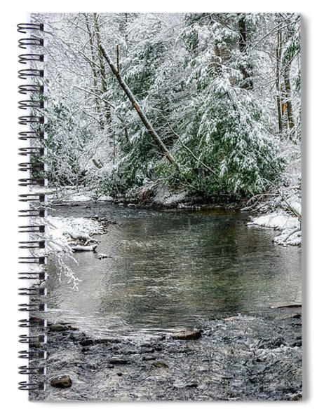 March Snow Cranberry River Spiral Notebook
