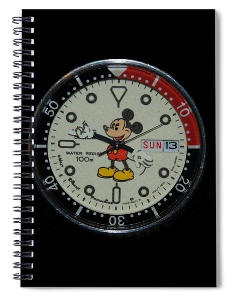 Mickey Mouse Watch Face Spiral Notebook