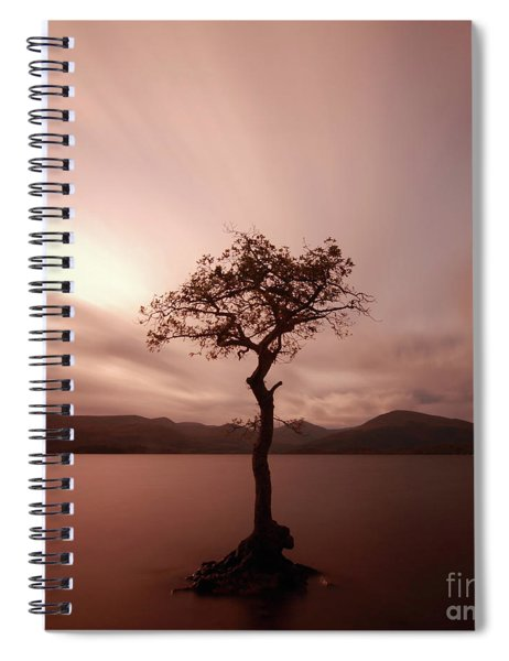 Milarrochy Bay Sunset Spiral Notebook