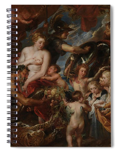 Minerva Protects Pax From Mars Spiral Notebook