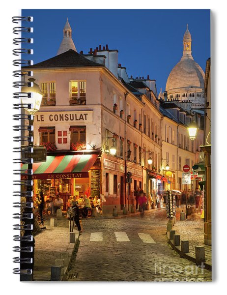 Spiral Notebook featuring the photograph Montmartre Twilight by Brian Jannsen