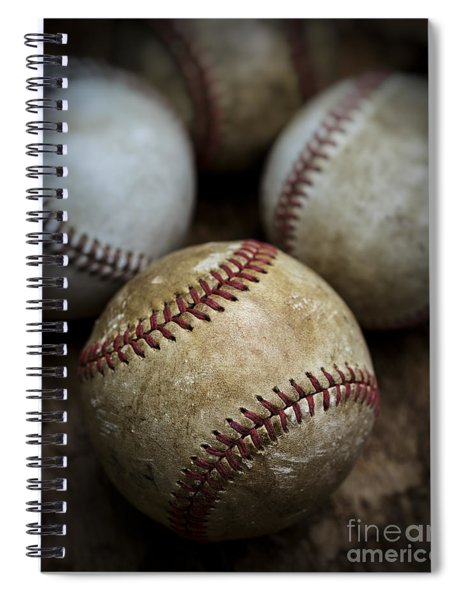 Old Baseball Spiral Notebook