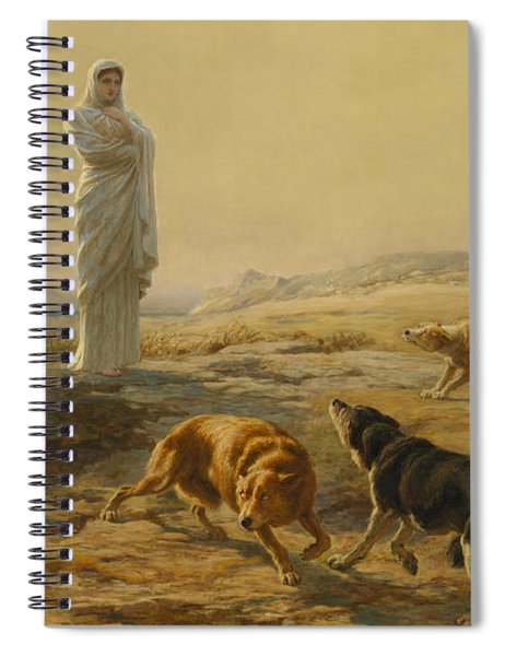 Pallas Athena And The Herdsman's Dogs Spiral Notebook
