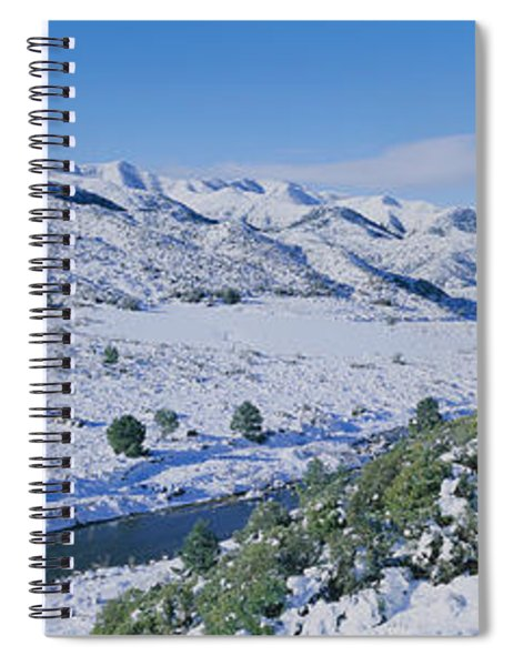 Panoramic View Of Winter Snow Spiral Notebook