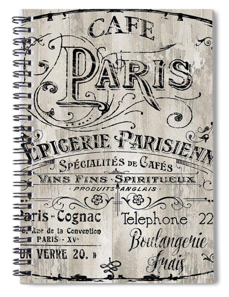 Paris Bistro  Spiral Notebook