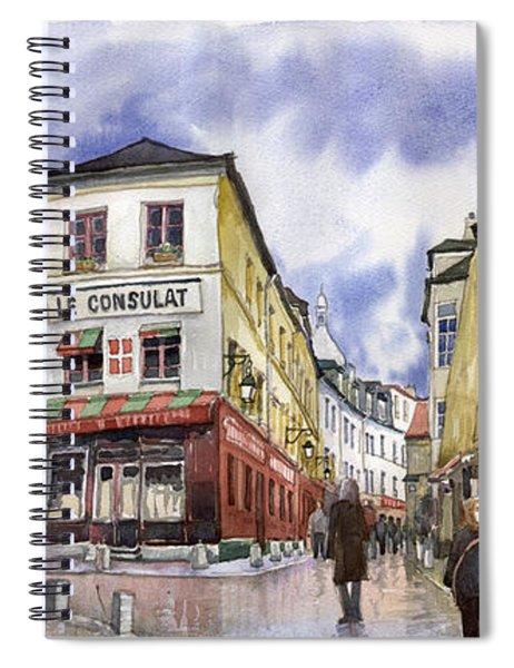 Paris Montmartre  Spiral Notebook