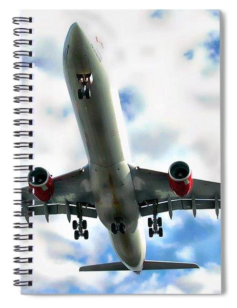 Passenger Plane Spiral Notebook