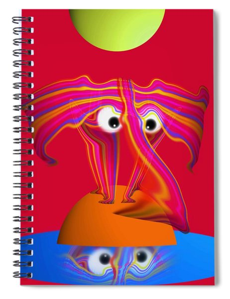 Pink Elephant Spiral Notebook