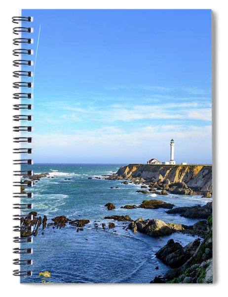 Point Arena Lighthouse Spiral Notebook by Jim Thompson