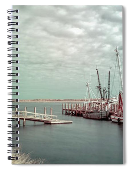 Port Royal Shrimp Boats Spiral Notebook