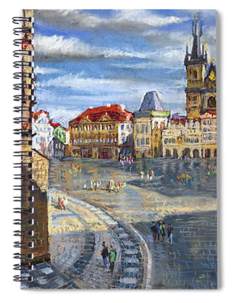 Prague Old Town Squere Spiral Notebook