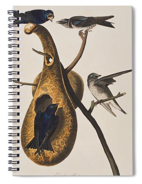 Purple Martin Spiral Notebook