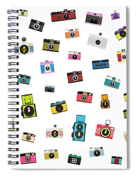 Retro Camera Spiral Notebook
