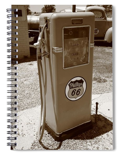 Route 66 Gas Pump Spiral Notebook