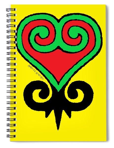 Sankofa Adinkra Spiral Notebook