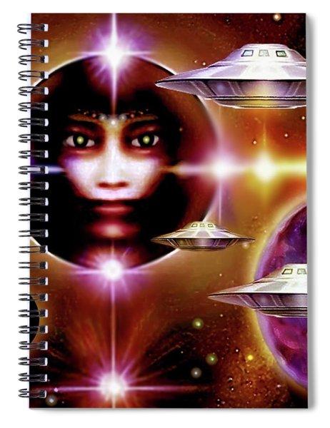 Space  Enigma  Spiral Notebook