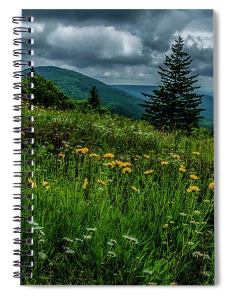 Summer Flowers Highland Scenic Highway Spiral Notebook