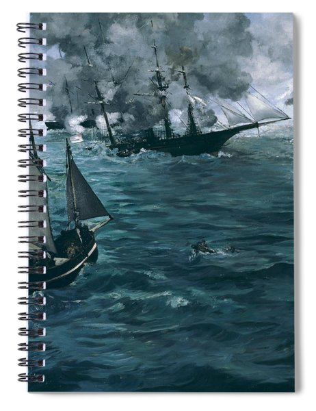 The Battle Of The U.s.s. Kearsarge And The C.s.s. Alabama Spiral Notebook