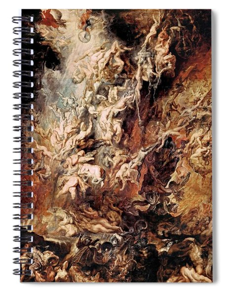 The Fall Of The Damned Spiral Notebook