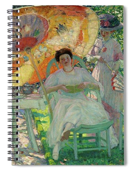 The Garden Parasol Spiral Notebook