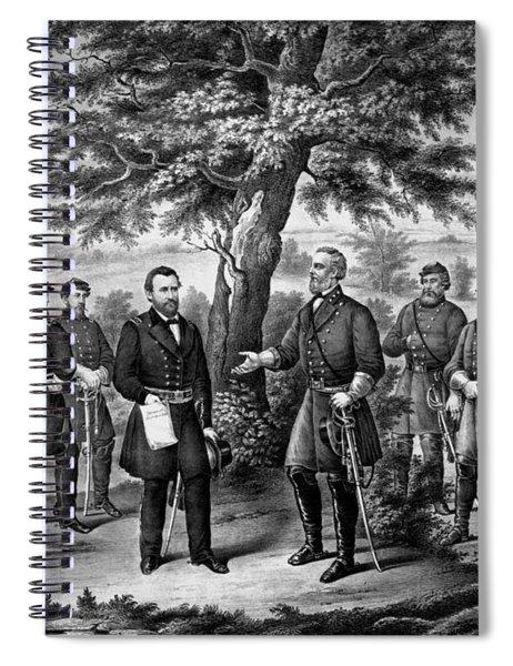 The Surrender Of General Lee Spiral Notebook