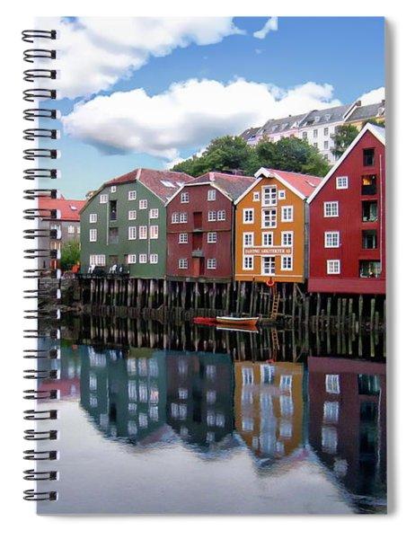 Trondheim Coastal View Spiral Notebook