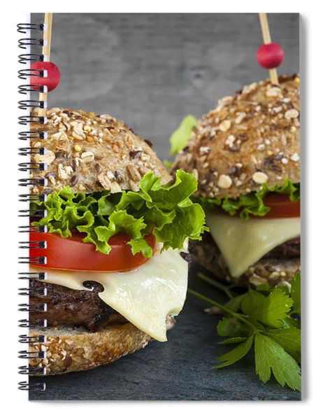 Two Gourmet Hamburgers Spiral Notebook