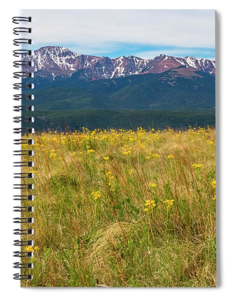 Wildflowers And Pikes Peak Spiral Notebook