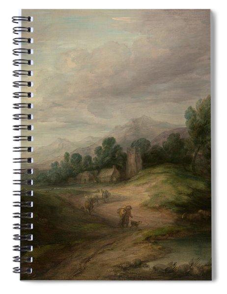 Wooded Upland Landscape Spiral Notebook